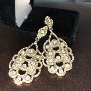 ALDO gold & crystal earrings